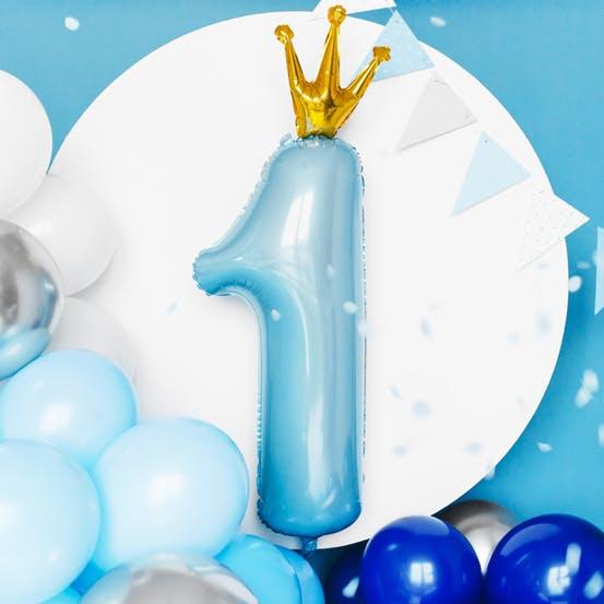 Ballongbåge, blå