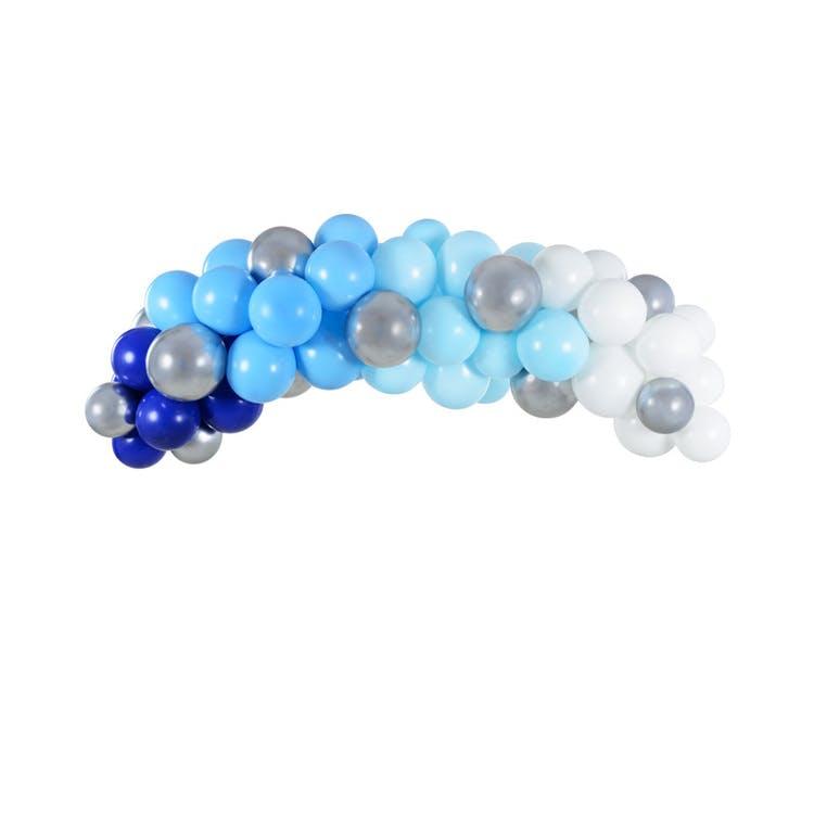 blå ballongbåge