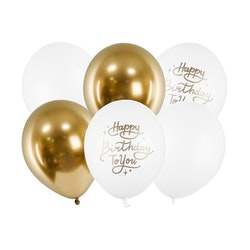 Ballong, Happy Birthday mix, 6-pack