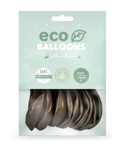 Ballong EKO, metallic brun, 10-pack