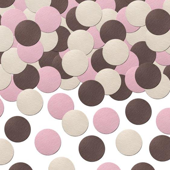 rosa brun konfetti