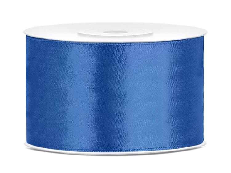Satinband, blå
