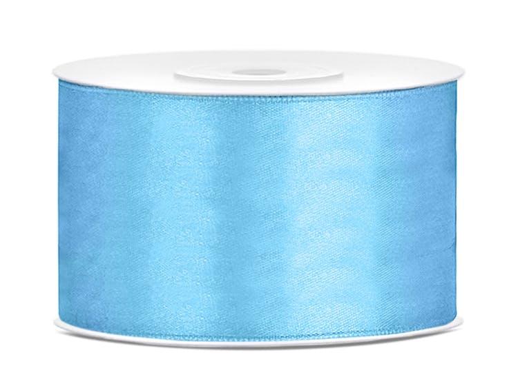 Satinband, ljusblå