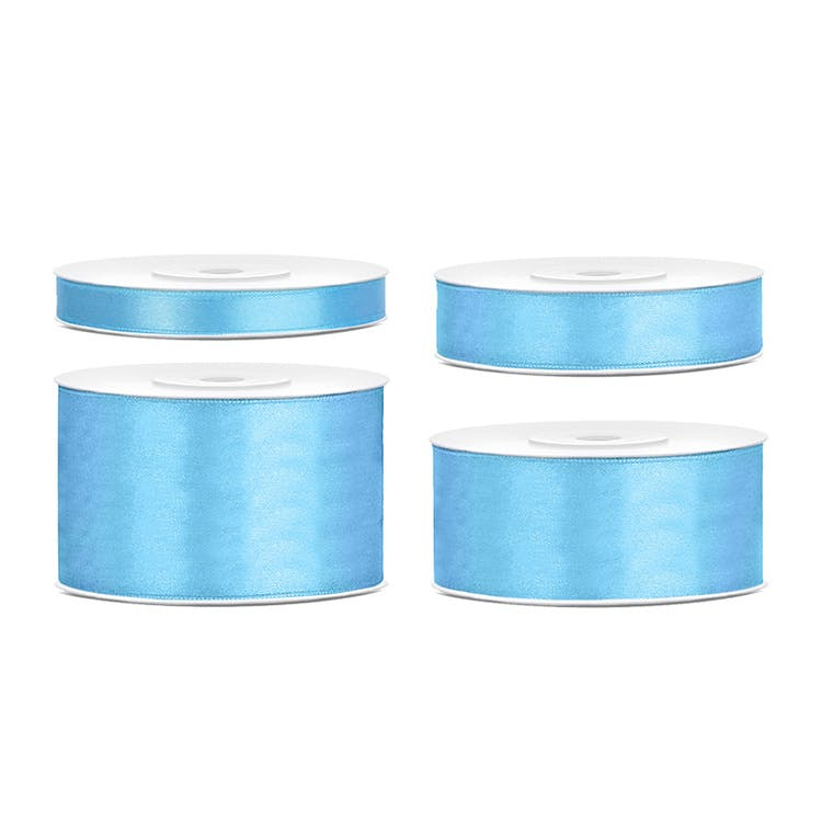 ljusblå satinband