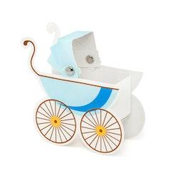 Tårtdekoration, barnvagn, blå
