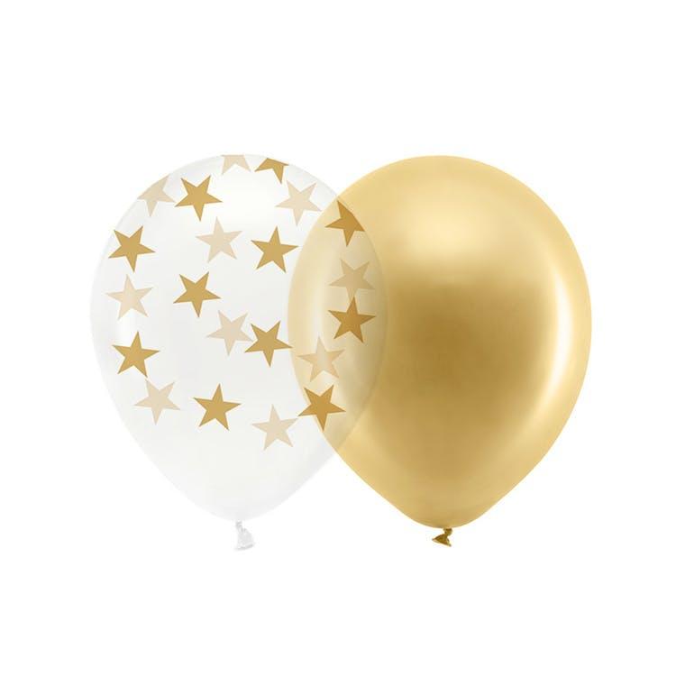 Ballong, guld mix, 10-pack