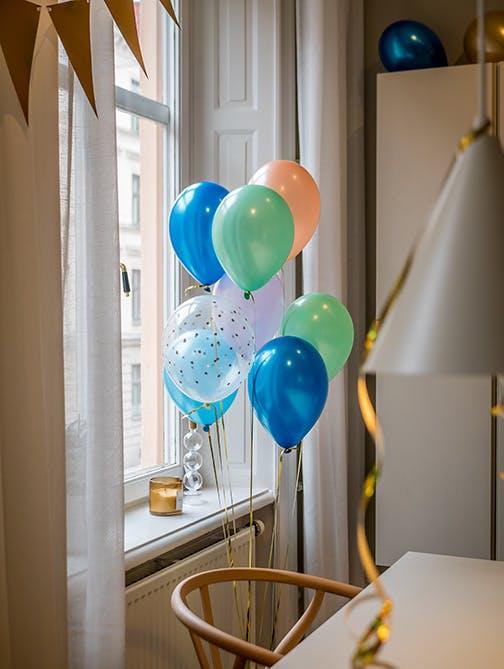 Ballong EKO, metallic marinblå, 10-pack