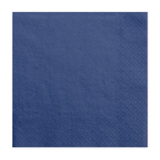 Servetter, blåa, 20-pack