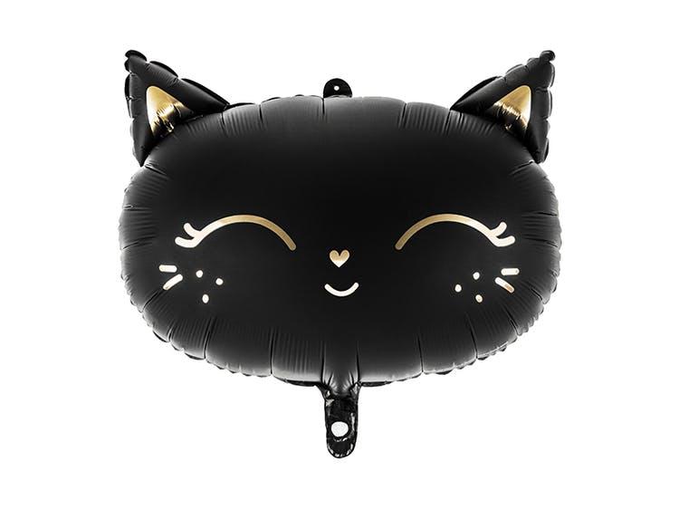 svart kattballong