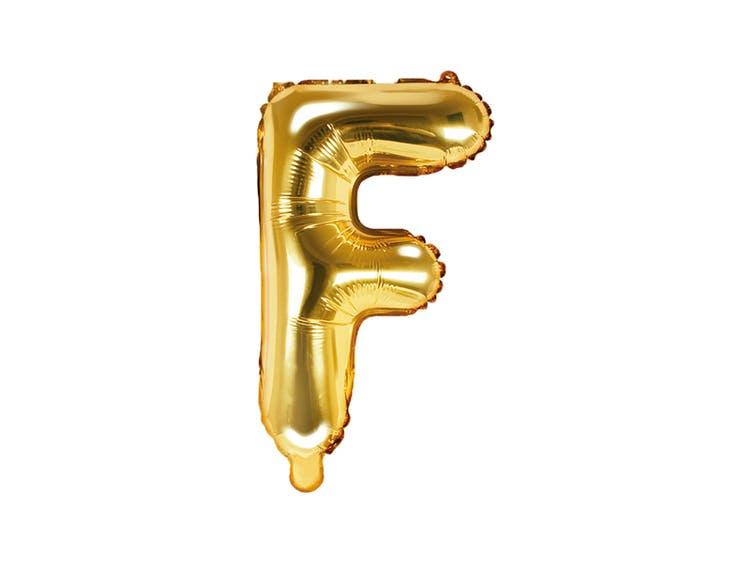 Bokstavsballong, guld