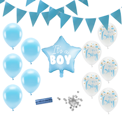 Baby Shower Dekoration, Paket Standard, Pojke