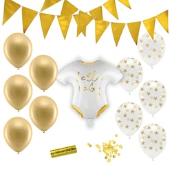 Baby Shower Dekoration, Paket Standard, Guld