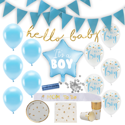 Baby Shower Dekoration, Paket Deluxe, Pojke