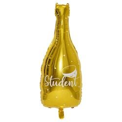 Folieballong, flaska Studenten