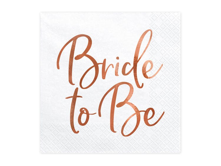 Servetter, Bride to be, 20-pack
