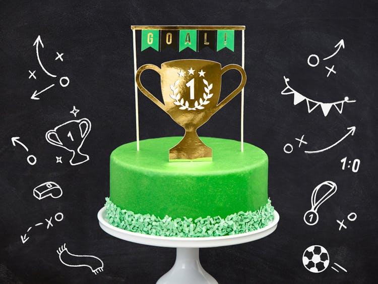 Cake topper, fotbollskalas