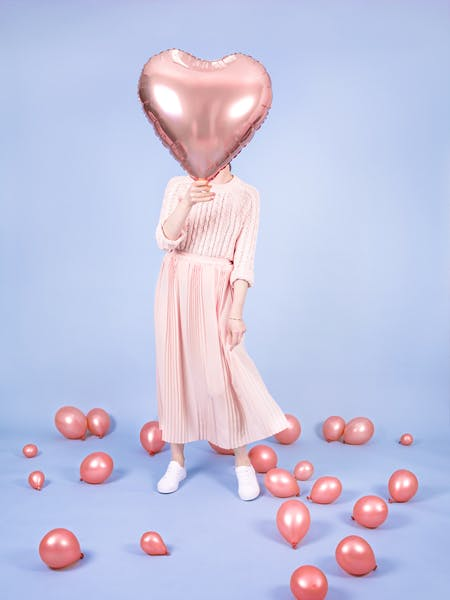 Folieballong, Hjärta, Roséguld