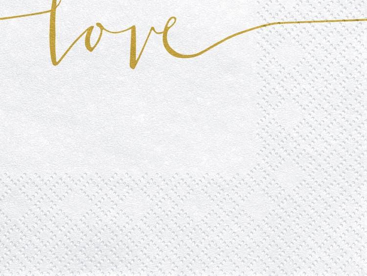 Servetter, Love, 20-pack
