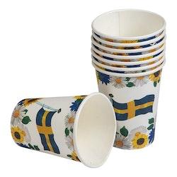Pappmugg, Sverige, 8-pack