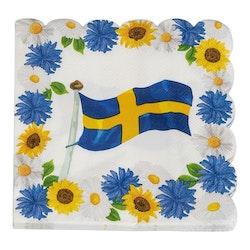 Kaffeservetter, Sverige, 16-pack