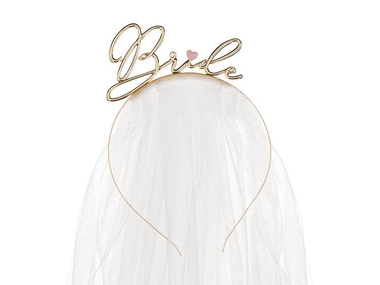 Diadem med slöja, Bride, Guld