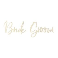 Stolsdekoration, Bride & Groom, Trä