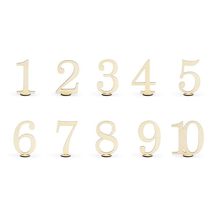 bordsnumrering trä