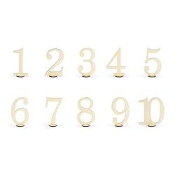 Bordsnumrering, träsiffror