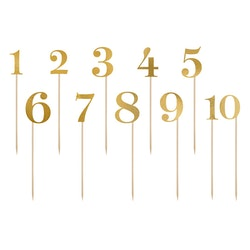 Siffror på pinnar, guld
