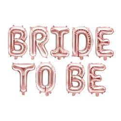 Folieballong, Bride to be, Roséguld