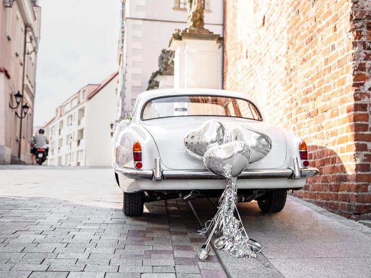 Bildekoration, Bröllop, Silver