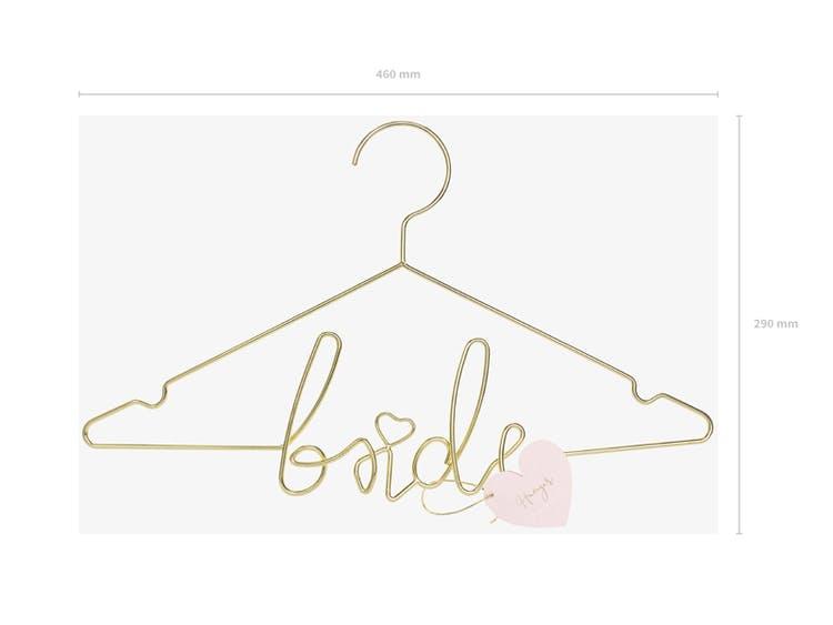 Klädhängare, Bride, Guld
