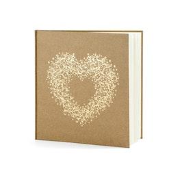 Gästbok, Hjärta, Guld