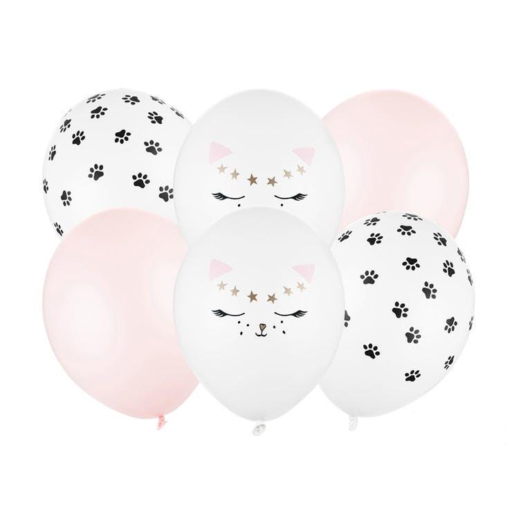 Ballong, katt mix, 6-pack