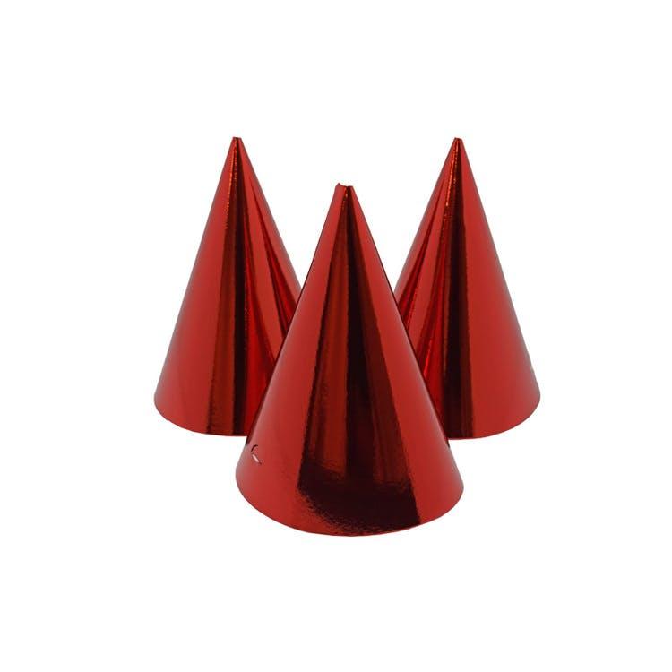 röda partyhattar