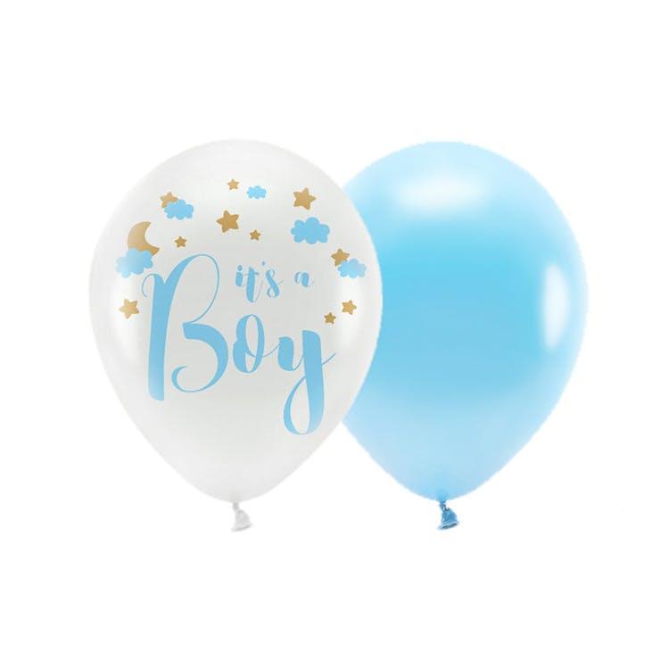 ballonger babyshower blå