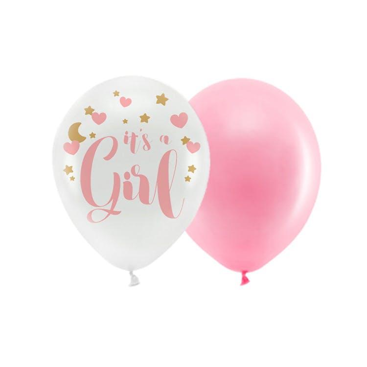 ballonger baby shower rosa