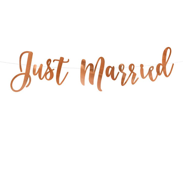 Girland, Just Married, Roséguld