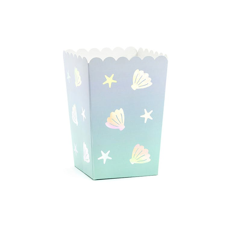 Popcornbox, havstema, 6-pack