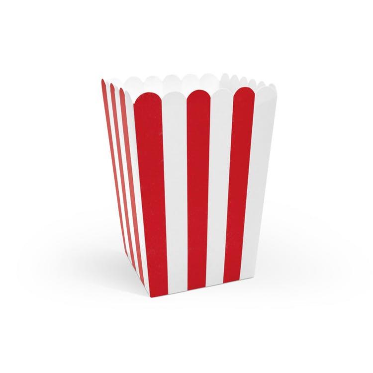 popcornbox röd och vit