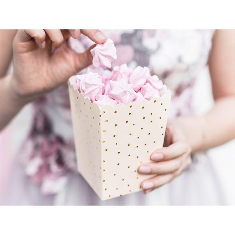 Popcornbox, persikorosa, 6-pack