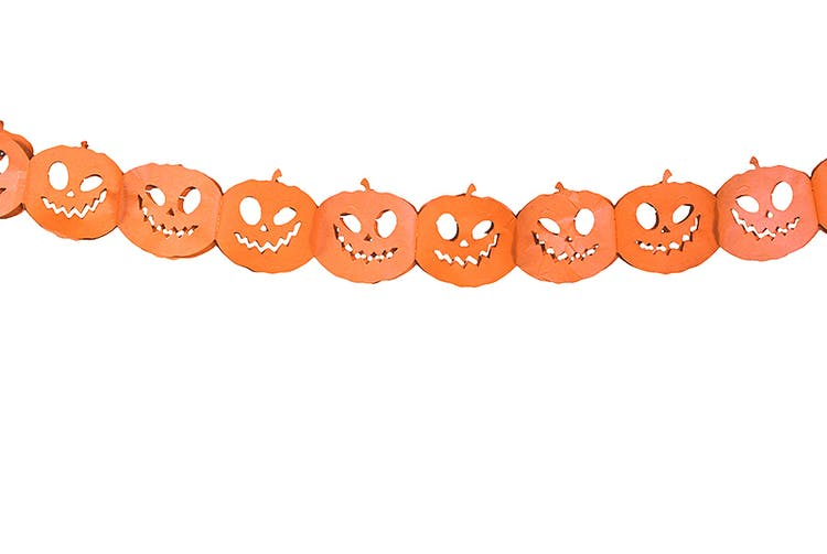 Pappersgirlang, pumpor, orange