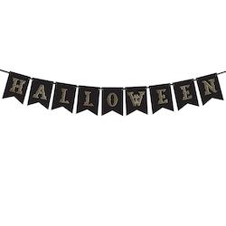 Vimpel, Halloween, Svart