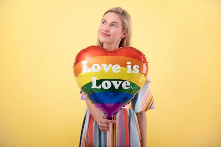 Folieballong, Hjärta, Love is Love