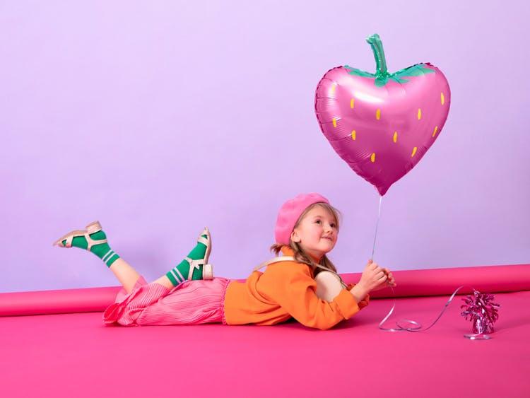 Folieballong, Lila jordgubbe