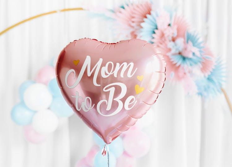 Folieballong, hjärta, Mom to Be, Rosa