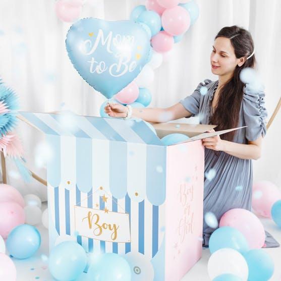 Folieballong, hjärta, Mom to Be, Blå