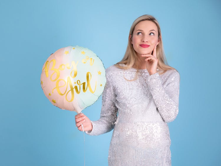 Folieballong, rund, Boy or Girl