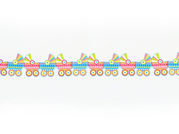 pappersgirlang barnvagnar