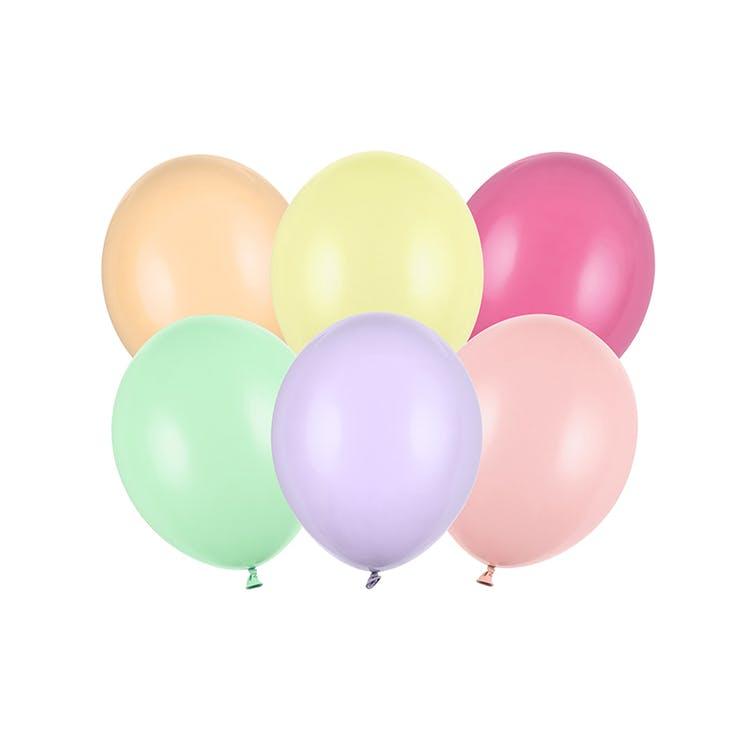 Ballong, pastell färgmix, 10-pack